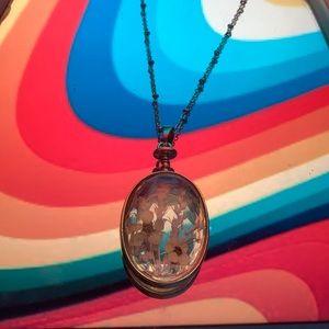 encased flowers necklace